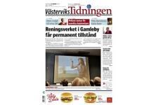 Tidningen Västerviks Tidningen 90 nummer. betala 385kr